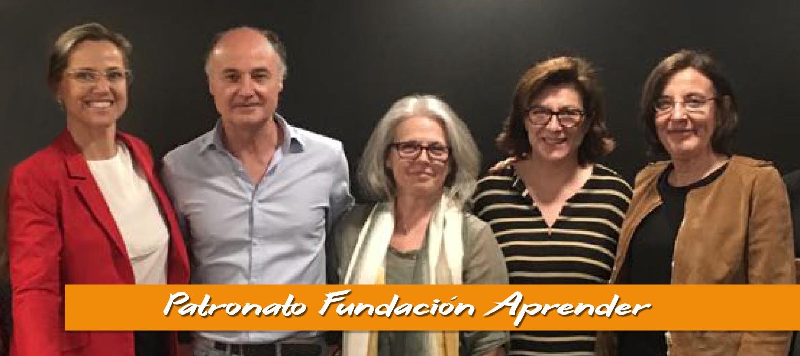 Foto Patronato Fundación Aprender compuesto por (de izquierda a derecha): Pilar Laguna, José Antonio Luengo, Irene Ranz, Yolanda Granados y Carmen López-Escribano