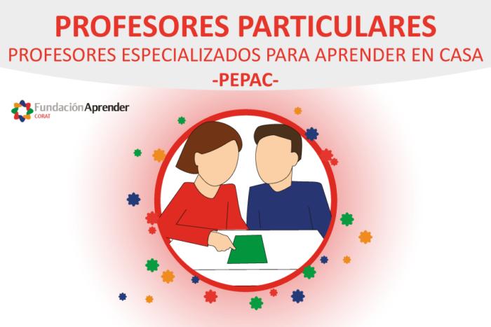 Profesores especializados para aprender en casa -PEPAC-